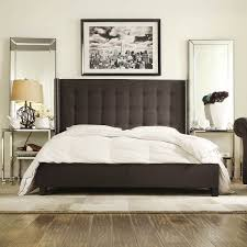 tufted wingback bed king home beds decoration