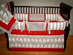 Custom Crib Bedding Sets And Gray Elephant Custom Crib Bedding 4 Set On Etsy