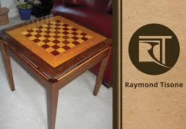 custom furniture u2013 walnut wood with maple accent chess table