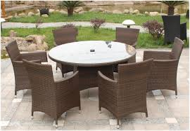 royalcraft cannes round 6 seater dining set mocha brown