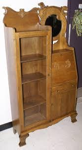 Antique Curio Cabinet With Desk Antique Solid Oak Side By Side