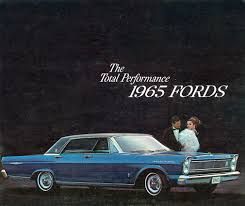 auto brochure 1965 ford ford car brochures pinterest auto