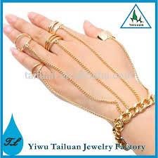 bracelet chain ring images Charm finger chain ring bracelet gold hand chain bracelet buy jpg
