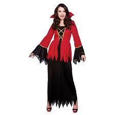 womens black u0026 red vampire horror fancy dress up world book day