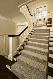 carpet runner for stairs staircase traditional with bookcase brown