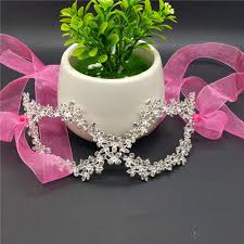 rhinestone mardi gras mask silver rhinestones masquerade mardi gras party