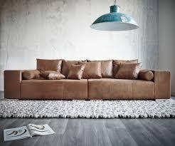 sofa braun big sofa marbeya 285x115 cm braun mit hocker antik optik möbel