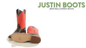 justin boots bent rail cowboy boots 11 u201d square toe for men