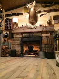 this guy spent 100 turning a basement room into a rustic cabin