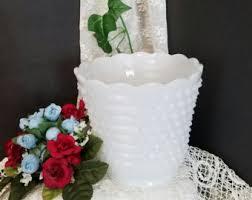 Milk Vases For Centerpieces by Milk Glass Vase Etsy
