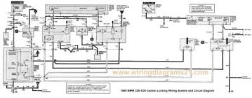 bmw 325i e30 central locking wiring system and circuit diagram