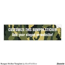 bumper sticker template free