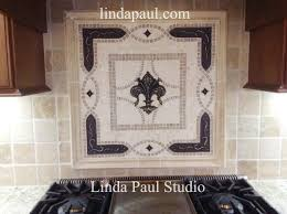Kitchen Backsplash Mosaic Tile Designs Kitchen Fleur De Lis Kitchen Backsplash Mosaic Tile Medallions