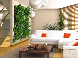 amusing vertical garden modern design on the wall beside living