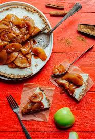 caramel apple cheesecake tart minimalist baker recipes