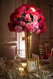 Pink And Gold Centerpieces by Wedding Wednesday Blushing Bride Beautiful Blooms