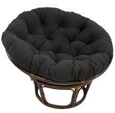 com blazing needles solid twill papasan chair cushion 48 x 6 x 48 black home kitchen