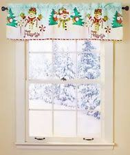 Snowman Valances Unbranded Holiday Curtains Drapes U0026 Valances Ebay