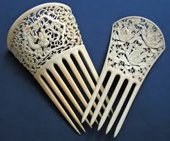 traditional hair accessories the of ivory comb carving jen cruse ethnic jewels
