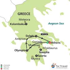 Sparta Greece Map by 3 Days Classical Tour Of Greece Greece Tour Specialist