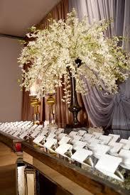 reception décor photos hawaiian orchids on place card table