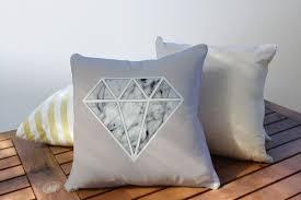 diamond pillow geometric pillow home decor cushion cover throw