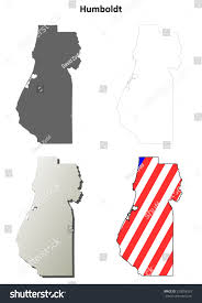 Blank Outline Map Of Trinidad And Tobago by Humboldt County California Outline Map Set Stock Vector 259054553