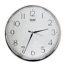 buy redclub ajanta quartz silver ring plastic wall clock silver