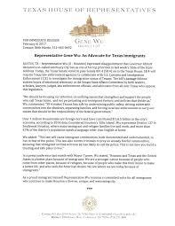 Places To Live In Austin Texas Press Release Representative Gene Wu U2013 An Advocate For Texas
