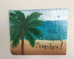 Margaritaville Home Decor Palm Tree Clock Etsy