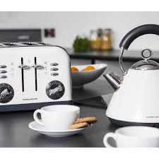 White Kettles And Toasters Morphy Richards Accents White Stainless Steel Kettle Jug U0026 4 Slice