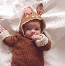 newborn baby sweater cute deer ear design hooded cardigan boy