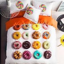 Duvet Donuts Unique Donuts Design 4 Piece Cotton Duvet Cover Sets Cotton