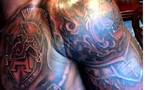 look adrian peterson shows off new u0027armor of god u0027 tattoo