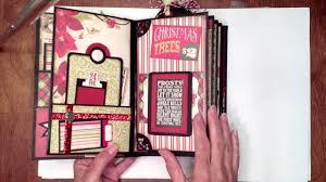 vertical photo album christmas paper bag mini album