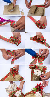 bags of bows diy christmas gift wrap ideas handmade bows gift bags and toppers