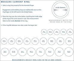 wedding ring sizes ring size chart