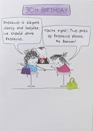 birthday card plk8022 humorous 30th birthday prosecco is