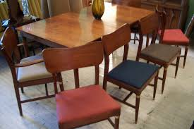 mid century modern heywood wakefield chair dining room set w leaf