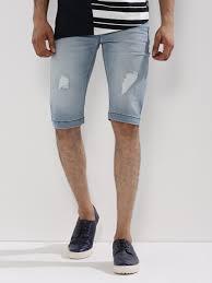 mens light blue shorts buy light wash denim shorts with rips for men men s blue shorts