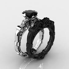 black wedding ring set black wedding rings best 25 black wedding ring sets ideas on