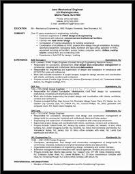Resume Examples Pdf Engineering by Hvac Resume Examples