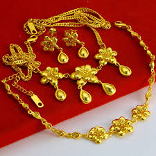 aliexpress buy new arrival fashion 24k gp gold free shipping 3 pieces set 24k handmade in hongkong gold shop