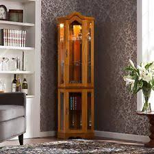 glass corner curio cabinet corner curio cabinet ebay