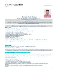accountant resume format accountant with gulf experience