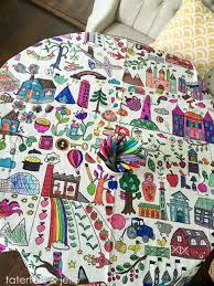 easy kids u0027 activity idea u2014 tablecloth coloring tatertots jello