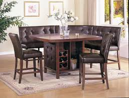breakfast table with storage counter height kitchen tables with storage elegant kitchen ideas
