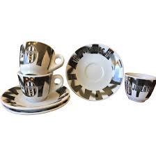 juventus espresso cup u0026 saucer set from anniesavenue on ruby lane