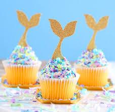 cupcake toppers gold glitter mermaid cupcake toppers mermaid cupcake