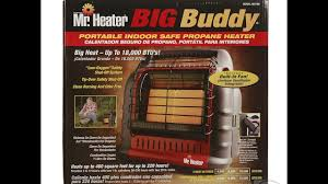propane heater with fan the mr heater big buddy portable cing propane heater youtube